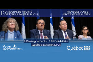 Daily Briefing in Quebec about Covid-19 Pandemic